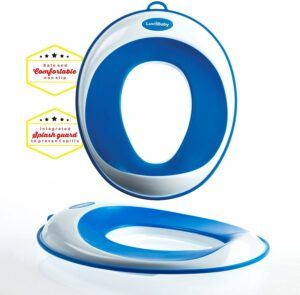 Toilet training seat in blue