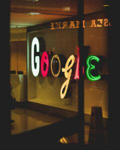 colourful google sign